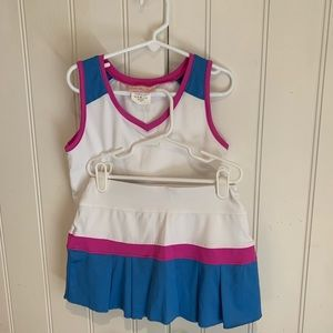 Little Miss Tennis Girls Skirt and Top size 8-10